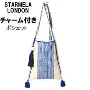 STARMELA スターメラ  ロンドン デザイン ポシェット ADI MED X BODY チャーム付 バッグ レディース 斜めがけ 軽め