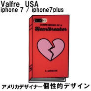 Valfre ヴァルフェー レッド HEARTBREAKER CONFESSIONS 3D IPHONE 7 7PLUS CASE 海外ブランド