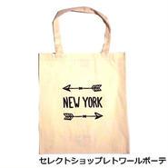 Bag all バッグ NEW YORK ARROW TOTE  エコバッグ コットン 折りたたみ レジ袋 アロー 海外 ブランド