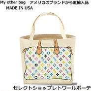 My Other Bag マイアザーバッグ アメリカ の トートバッグ ZOEY  MULTI WHITE エコトートバッグ エコ ECO BAG キャンバス レディース バッグ 鞄 正規品