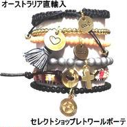 キャットハミル CAT HAMMILL ブレスレット セット レディース Tessa Leather Bracelet set gold mult タッセルブレスレット