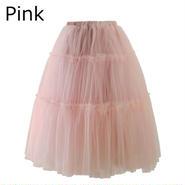 Chicwish シックウィッシュ チュールスカート ミモレ丈 ピンク Amore Tulle Midi Skirt in pink かわいい ボリューム カジュアル フェミニン ブランド