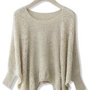 Chicwish シックウィッシュ トップス ニット Beige Slouchy Sweater ベージュ S/M サイズ おしゃれ ニット 編み 長袖 海外 ブランド
