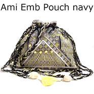 STARMELA スターメラ ロンドン 刺繍 ポシェット レディース ネイビー マルチカラータイプ ショルダー バッグ 肩掛け バック 斜めがけ 財布 巾着 海外 ブランド