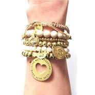 CATHAMMILL キャットハミル オーストラリア 可愛い ブレスレットセット Natural Stone Bracelet set Gold カット ハート ゴールド ブレスレッド 海外 ブランド
