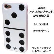 Valfre ヴァルフェー ドミノ牌 型 DOMINO 3D IPHONE 7 シリコン アイフォン ケース 白 ソフト 賽の目 海外