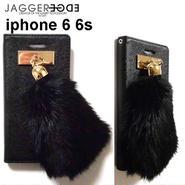 JAGGER EDGE ジャガーエッジ アメリカ の ラグジュアリー 2つ折り カード入れ付き smart wallet gold bunny charm iphone 6 6s ケース