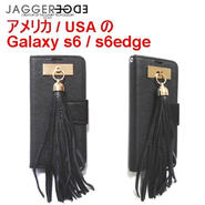 JAGGER EDGE ジャガーエッジ アメリカ レザー ウォレット カード Butterfly smart wallet gold leather tassel galaxy s6 case ケース