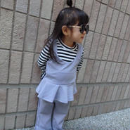 【kids】残り120㎝のみ!ビスチェフレアセットアップ!3点セット