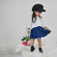 【kids】デニムフリンジスカート