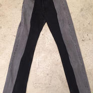 remake black denim pants