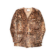 The Letters : Western Gown Leopard Fur Shirt