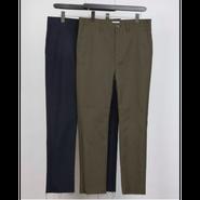 MAINTENANT : HOPSACK STRETCH CUT OFF NEW SLIM PANTS
