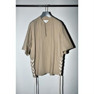 JOHN MASON SMITH : SIDE LACE UP S/S SHIRT