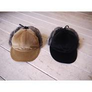 COMESANDGOES : VELVET CORDUROY EARFUR CAP