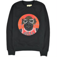 【beyond closet】ROD DOG B BALL LONG SLEEVE SWEAT(BLACK)