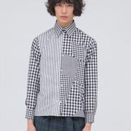 【wed】Switch Gingham Check Shirts(BLACK)