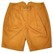 【wisdom】Double Pleat Shorts(MUSTARD)