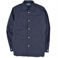 【PHINGERIN】PIN-TACKED COLLAR SHIRT(NAVY)