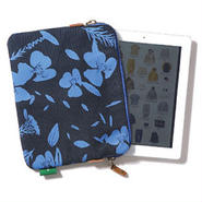 【thisisneverthat】FLOWER PATTERN I PAD POUCH(NAVY)