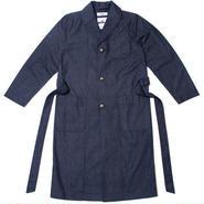 【wisdom】Dressing Gown(NAVY×DOT)