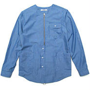 【wisdom】Laborer LS Shirtt(BLUE STRIPE)
