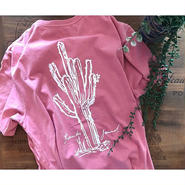 "[ BANKS JOURNAL ] ""CACTUS"" TEE -ROSE- (5,000+tax)"