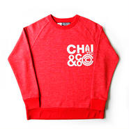CHARI & CO - CLUSTER LOGO CREW NECK SWEAT SHIRTS RED