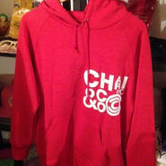 CLUSTER LOGO PULL OVER HOOD PARKA RED