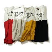 BI-TONE ARCH LOGO TEE Tシャツ 赤・黒・灰・黄