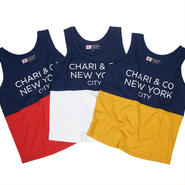 CHARI & CO NYC - BI-TONE TANK TEXT ( COLORS )
