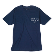 CHARI & CO NYC - POCKET TEE TEXT NAVY