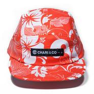 CHARI & CO NYC - ALOHA FLORAL 5PANEL CAP RED