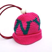 CHARI & CO - KNIT CAP KEY COVER PINK