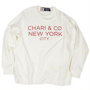 CHARI & CO - CREW NECK SWEATER SIMPLE LOGO WHITE