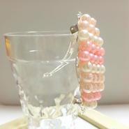 キラキラ輝くピンクのフィリグリー台座バレッタ