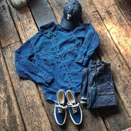 FULLCOUNT / CIGARETTE POCKET WORKSHIRTS (INDIGO WABASH)