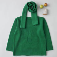 """friendly knit"" camphor sweater green"