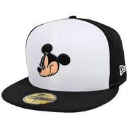 DIS74 NEWERA × DISNEY ニューエラ × ディズニー ミッキーマウス フェイス 59フィフティー フィッテッドキャップ ホワイト/ブラック