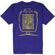 HUF608 HUF ハフ ケビンライオンズ ロサンゼルス Tシャツ ブラック KEVIN LYONS LA TEE PURPLE