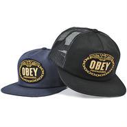 OBEY267 「OBEY」 オベイ チェインズ トラッカー メッシュキャップ ブラック、ネイビー