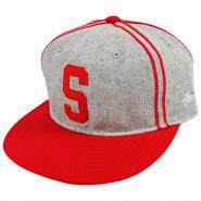 SS190 SS190 STUSSY ステューシー クラシック エベツフィールド ストラップバックキャップ グレー/レッド CLASSIC EBBETS FIELD STRAPBACK CAP