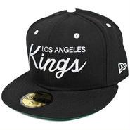 OSC03 NEWERA OLD SCRIPT 59FIFTY CAP 11100097 ニューエラ オールドスクリプト 59フィフティー キャップ KINGS(NHL) ブラック/ホワイト