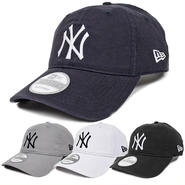 92C45 NEWERA ニューエラ ウォッシュドコットン 920 ストラップバックキャップ ヤンキース(MLB) ブラック、ネイビー、ホワイト、グレー