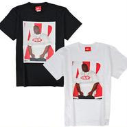 """7UN441 7UNION × ASH HUDSON セブンユニオン × アッシュハドソン コナート フォトTシャツ """"ビギー 1994"""" ブラック、ホワイト ICASH-015T"""