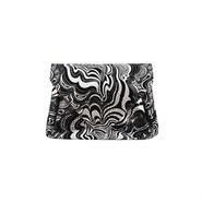 レザーミニウォレットマーブルシルバー【Lether Mini Wallet Marble Silver】