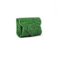 レザーミニウォレット ビーム ネオングリーン【Mini Wallet BEAM Neon Green】