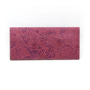 フラットパスポートケース ツギハギピンク&パープル【Passport Case(Patchy)】