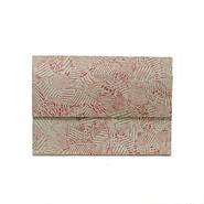 フラットバイヤーズバッグ(iPadケース) ツギハギグリーン&レッドFlat Buyer's Bag(Patchy)