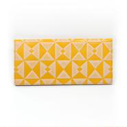 フラットパスポートケース オリガミイエロー【Passport Case(Origami)】